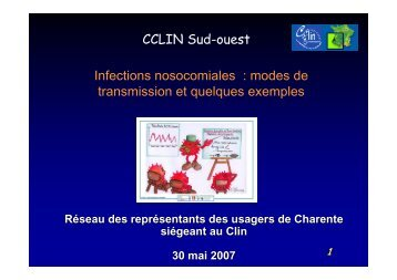 Transmission des infections nosocomiales - CLIN Sud-Ouest