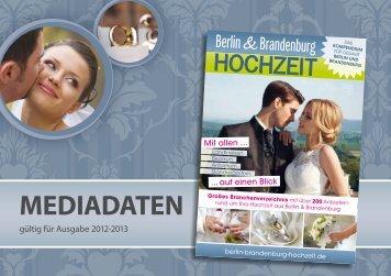Mediadaten (4,7 MB) - Magazin Berlin und Brandenburg Hochzeit