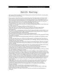 Keith Haring - Kunst und Kunstunterricht