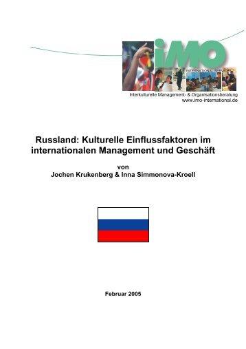 Russland: Kulturelle Einflussfaktoren im internationalen ...