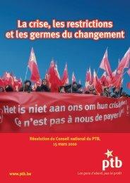 La crise, les restrictions et les germes du changement - Ptb.be