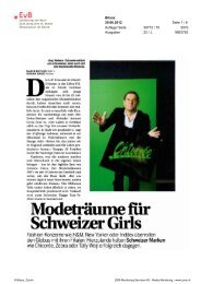 Modeträume für - Erklärung von Bern
