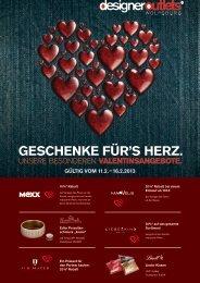 geschenke für's herz. - designer outlets Wolfsburg