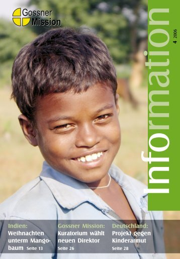 Indien: Weihnachten unterm Mango- Gossner Mission: Kuratorium ...