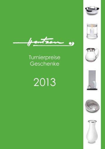 Turnierpreise Geschenke - Hentzen GmbH
