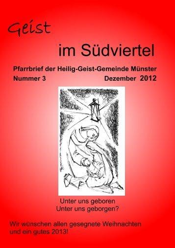 Geist im Suedviertel Weihnachten - Heilig Geist Gemeinde Münster