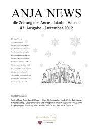 die Zeitung des Anne - Jakobi - Hauses 43. Ausgabe - Dezember ...