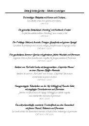 Salate & leichte Gerichte & leichte Gerichte ... - Hotel Hornberg