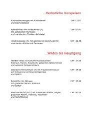 …Herbstliche Vorspeisen …Wildes als Hauptgang - Hotel Oktogon