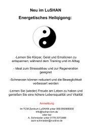 Qi Gong - Lushan Zentrum für Traditionelle Chinesische Medizin