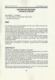 ABSTRACT - Spor Bilimleri Dergisi