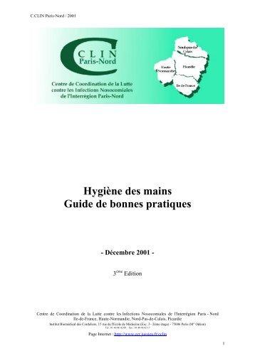 Hygiène des mains. Guide de bonnes pratiques. 3ème - SFMU