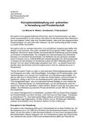 Artikel für - Transparency International