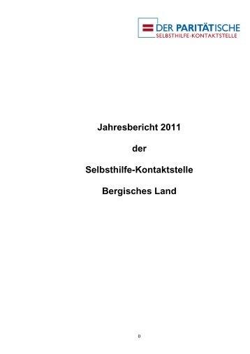 Jahresbericht 2011 der Selbsthilfe-Kontaktstelle Bergisches Land