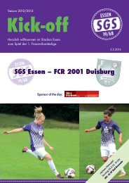 SGS Essen – FCR 2001 Duisburg