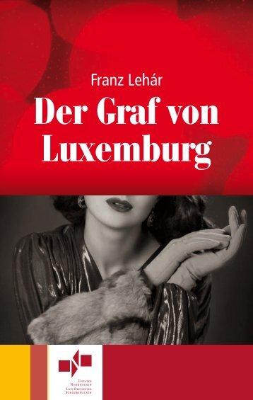 """Programmheft """"Der Graf von Luxemburg"""" - Theater Nordhausen"""