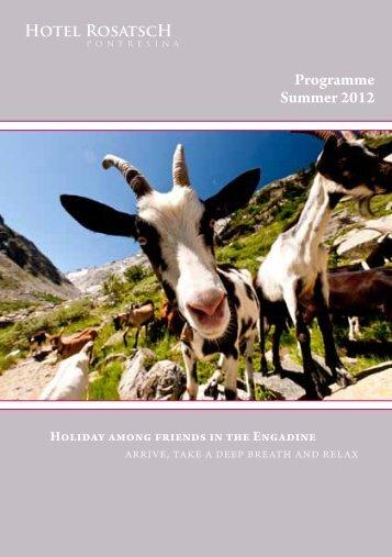 Programme Summer 2012 - Hotel Rosatsch