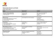 Referenzliste Zimmerei und Parkett - HERZOG Bau und Holzbau AG