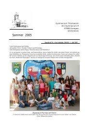 Rundbrief 4 Sommer 2005 - Gymnasium Thomaeum Kempen