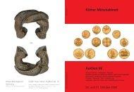 Katalog Auktion 92 - Tyll Kroha - Kölner Münzkabinett
