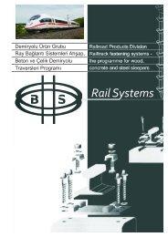 Demiryolu Ürün Grubu Ray Bağlantı Sistemleri Ahşap, Beton ve ...