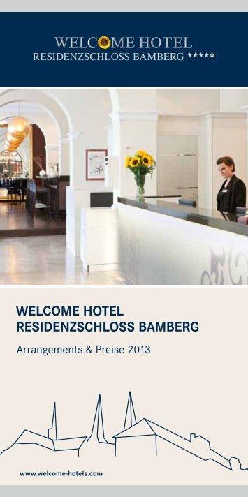 download arrangement broschure bamberg - Welcome Hotels