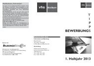 Bewerbungs-Tipps - Volkshochschule Bochum