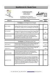 110926 Bestellformular für Stauden Forum - LUST Blechwaren GmbH