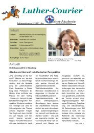 Download Luther-Courier - Luther-Akademie