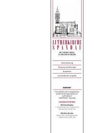 Präsentation Lutherkirche Spandau - Luthergemeinde Spandau