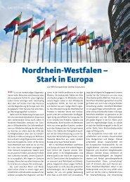 Nordrhein-Westfalen – Stark in europa - CDU Landtagsfraktion NRW