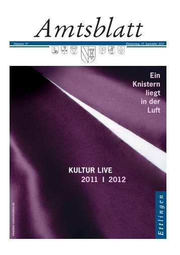 Publ ettlingen Issue kw37 Page 1 - in der Stadt Ettlingen