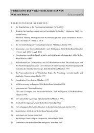 verzeichnis der veröffentlichungen von walter frenz - Lehr- und ...