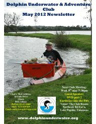 Dolphin Underwater & Adventure Club May 2012 Newsletter