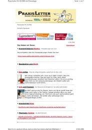 Seite 1 von 7 PraxisLetter Nr.16/2006 mit Finanztipps 22.08.2006 ...