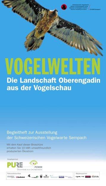 Die Landschaft Oberengadin aus der Vogelschau