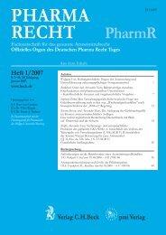 PharmR Pharma Recht - pmi Verlag AG