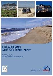 URLAUB 2013 AUF DER INSEL SYLT - Luwoge