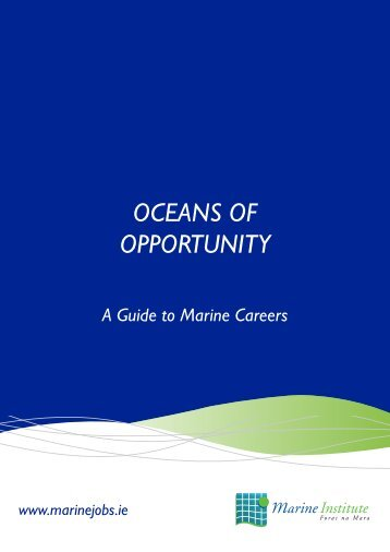 """Click on image to download """"Oceans of Opportunity - Marine Jobs"""