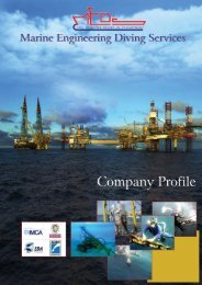 Company Profile - Marine Engineering Diving Services