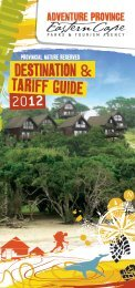 DESTINATION & 2012 TARIFF GUIDE - Eastern Cape Parks