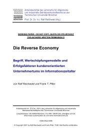 Reverse Economy - Lehrstuhl für Allgemeine und Industrielle ...