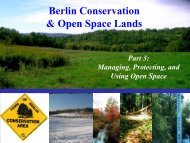 Berlin - Open Space Lands: Present Conservation ... - Town of Berlin