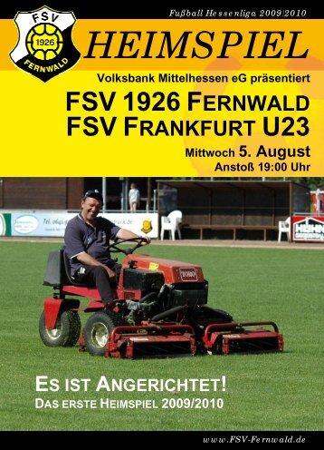 fsv 1926 fernwald fsv frankfurt u23