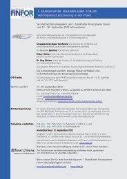 1. FrankFurter Finanzplaner Forum 1. FrankFurter ... - Procontra