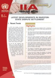 Latest Developments in Investor-State Dispute Settlement [IIA - Unctad