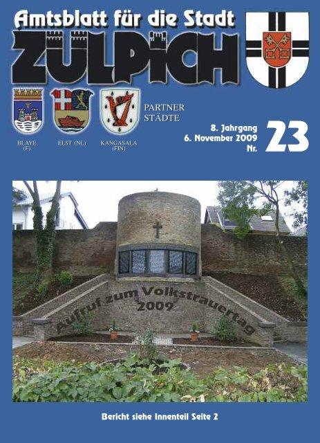 8. Jahrgang 6. November 2009 Nr. PARTNER ... - Stadt Zülpich