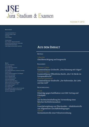 Christian F. Majer - Zeitschrift Jura Studium & Examen