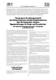 Gemeinsame Verwaltungsvorschrift des Kultusministeriums und des ...