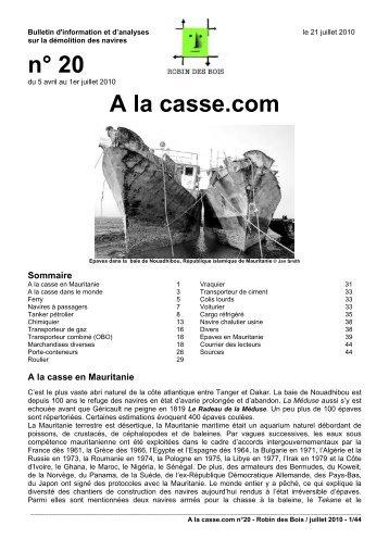 n° 20 A la casse.com - Robin des Bois